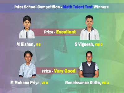 WINNERS – INTER SCHOOL COMPETITION