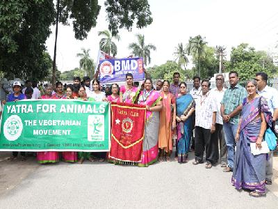 THE VEGETARIAN MOVEMENT YATRA FOR ANIMALS